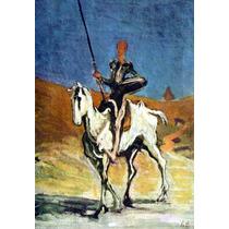 Lienzo Tela Don Quijote Por Honoré Daumier 72 X 50 Cm Cuadro