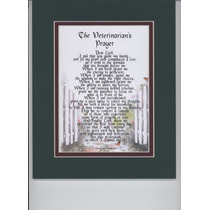 Plaque D Carton Para Enmarcar Con La Oracion Del Veterinario