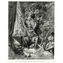 Lienzo Tela Grabado Don Quijote Por Gustave Doré 65 X 50 Cm