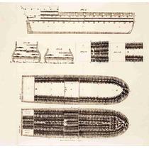 Lienzo Tela Diagrama Barco Esclavos Africanos 50 X 52 Cm
