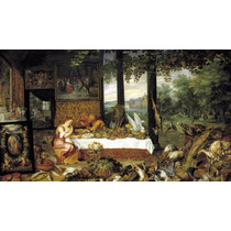 Lienzo Tela Gusto Por Paul Rubens Arte Barroco 50 X 85 Cm