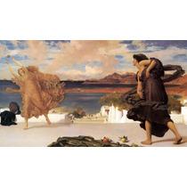 Lienzo-tela, Chicas Griegas, Frederic Leighton 50 X 90 Cm