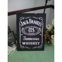 Letrero Anuncio Vintage Jack Daniels Madera Antiguo Marcas