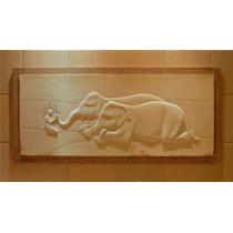 Cuadro Elefantes Con Niño 2.65 1.20
