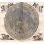 Lienzo Tela Mapa Luna Grabado 1645 Johann Hevelius 50 X 56cm