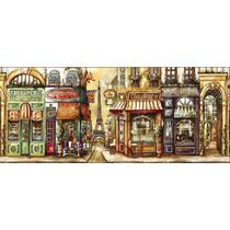 Lienzo Tela Vintage, Cafe De Paris 50 X 120 Cm