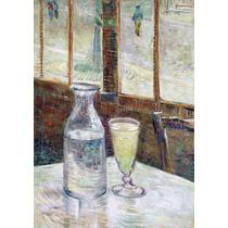 Lienzo Tela Mesa De Café Con Absenta Vincent Van Gogh 50x75
