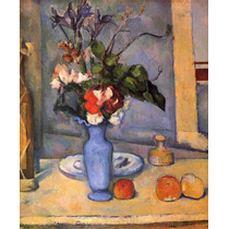 Lienzo Tela Paul Cezanne Jarrón Azul Francia 61 X 50 Cm