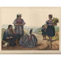 Lienzo Tela Grabado Nebel Indias De Sierra México 1836 50x64