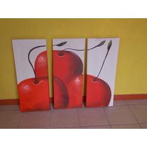 Juego De Cuadros Con Manzanas Rojas