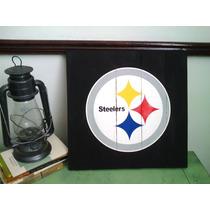 Cuadro Anuncio Letrero Steelers Acereros Pittsburgh Madera