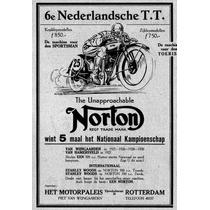 Lienzo Anuncio Motocicletas Norton Rotterdam 1935 73 X 50 Cm