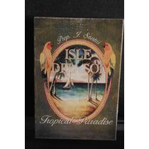 Cuadro Isle Del Sol Tropical Paradise Retro Vintage Mecate