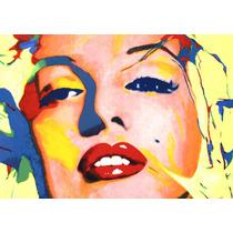 Lienzo, Tela, Marilyn Monroe, Serigrafía: 80 X 100 Cm.