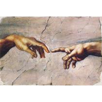 Lienzo Tela, La Creación De Adán, Miguel Angel, 100 X150 Cm.