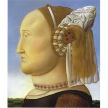 Lienzo-tela, Batista Sforza, Fernando Botero, 68 X 80 Cm