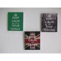 Cuadro, Canvas Keep Calm Medida 25 X 21 (precio Unitario)