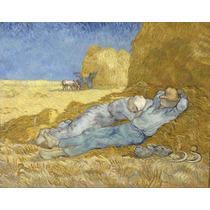 Lienzo En Tela La Siesta Por Vincent Van Gogh 50 X 63 Cm