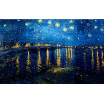Lienzo En Tela. Van Gogh. La Noche Estrellada, 50 X 60 Cm.