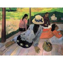 Lienzo Tela Paul Gauguin Siesta Del Medio Día 1887 50 X 67cm