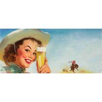 Lienzo Poster Pin Up Girl Cerveza 1953 Gil Elvgren 40x90 Cm