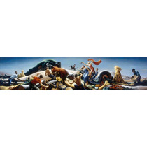 Lienzo Tela Aquiles & Hércules Thomas Hart Benton 22 X 90 Cm