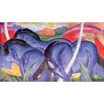 Lienzo Tela Franz Marc Los Grandes Caballos 1911 50 X 87 Cm