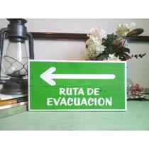Cuadro Letrero Anuncio Ruta De Evacuacion Señalizacion