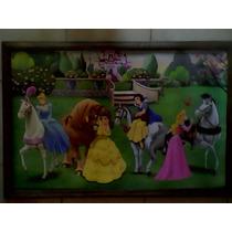 Cuadro Grande Nuevo Princesas Con Caballos