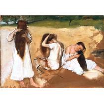 Lienzo Tela Mujeres Cepillando Cabello Salón De Belleza Arte