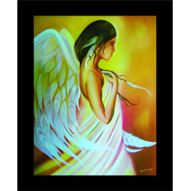 Cuadro Pintado A Mano Al Oleo Angel