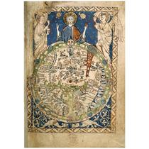 Lienzo Tela Mapa Mundi Universal 1265 Edad Media 73 X 50 Cm