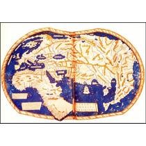 Lienzo Tela Mapa Mundi 1490 De Cristóbal Colón 50 X 72 Cm
