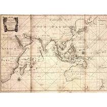 Lienzo Tela Mapa Comercio Compañía Indias Holandesas 1700