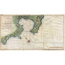 Lienzo Tela Mapa De Zihuatanejo México 1745 Plano Carta