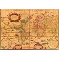 Lienzo Tela Mapa Antiguo. 70 X 90 Cm. Original