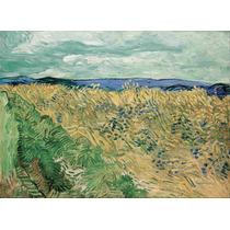 Lienzo Tela Vincent Van Gogh Trigal Con Flores 50 X 69 Cm