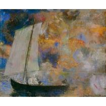 Lienzo Tela Odilon Redon Nubes De Flores 1903 50 X 61 Cm
