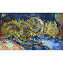 Lienzo Tela Flores Florero Azul Vincent Van Gogh 1887 50x84