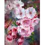 Pintura Al Oleo/acrilico Flores De Sakura Pintado A Mano