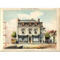 Cuadro En Tela Cafe Restaurante Francia 1830 70 X 50 Cm.