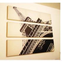 Hermoso Cuadro, Triptico De Paris !! Decoracion