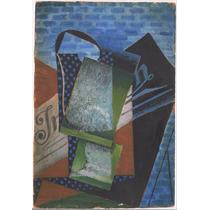Lienzo Tela Abstracción Pintor Juan Gris Cubismo 72 X 50 Cm