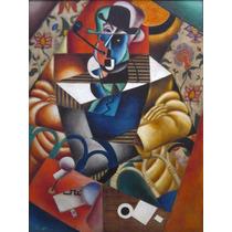 Lienzo Tela Hombre Con Pipa Por Jean Metzinger 1913 67 X 50