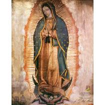 Lienzo En Tela. La Virgen De Guadalupe. 30 X 40 Cm.