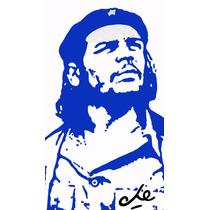 Lienzo Tela Grafiti Pared Con Frma Che Guevara 90 X 50 Cm