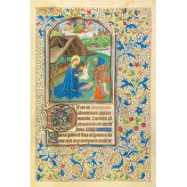 Lienzo Tela Manuscritos Iluminados La Natividad Arte Sacro