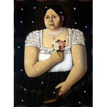 Lienzo Tela Mujer Con Flores Puebla 50 X 70 Cm Poster