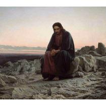 Lienzo Tela Cristo En El Desierto Ivan Kramskoy Arte Sacro