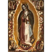Lienzo En Tela. La Virgen De Guadalupe. 1 X 1.5 M.